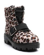 La Galleria - Lace Up W/ Buckle Lug Sole Boots (11-4)-2705675