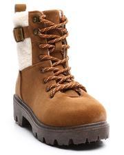 La Galleria - Lace Up Faux Sherling Lug Sole Boots (11-4)-2705683