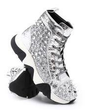 Men - Spiked Metallic High Top Chunky Sole Sneakers-2705726