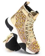 Men - Spiked Metallic High Top Chunky Sole Sneakers-2705733