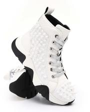 Men - Spiked Metallic High Top Chunky Sole Sneakers-2705740