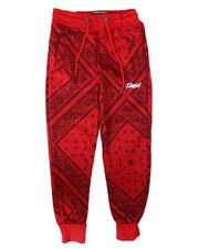 Activewear - Fresh 3D Embroidery Bandana Print Jogger Pants (8-18)-2705878
