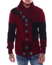 Men - Buffalo Plaid Shawl Collar Sweater-2705929