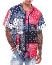 Shirts - Men's Bandana Mix Baseball Jersey-2706754