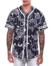 Shirts - Men's Pinstripe Bandana Baseball Jersey-2706742
