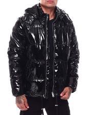 Heavy Coats - Glazed Nylon Puffer Coat-2703944