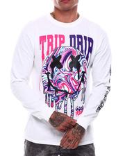 Shirts - Trip Drip Printed Long Sleeve T-Shirt-2703964