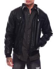 Leather Jackets - Classic Bomber PU Jacket-2704586