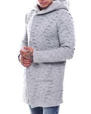 Light Jackets - Distressed Sweater Jacket-2705968