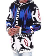Light Jackets - Abstract Aztec Sweater Jacket-2705985