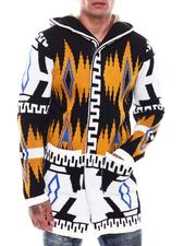 Light Jackets - Abstract Aztec Sweater Jacket-2705995