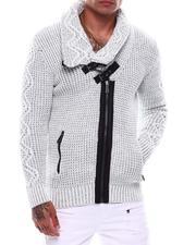Sweaters - Shawl Collar Toggel Zip Sweater-2705453