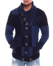 Sweaters - Buffalo Plaid Shawl Collar Sweater-2705924