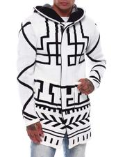 Light Jackets - Abstract Lines Sweater Jacket-2705980