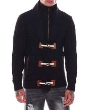 Sweaters - Shawl Collar w Zip bib Toggel Sweater-2704777