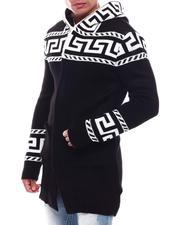 Light Jackets - Greek Key Sweater Jacket-2705950