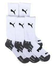 Puma - 5Pk 1/2 Terry Crew Athletic Socks-2705412