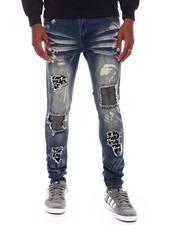 SWITCH - RIPPED DENIM PANTS WITH BRUSH BLEACH-2707771
