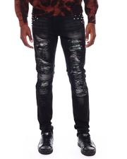 Buyers Picks - Ripped Jeans w  Stones and Mixed Patch detail-2706170