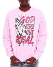 Men - God Bless Printed Glitter Sweatshirt-2707004