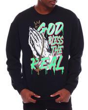 Men - God Bless Printed Glitter Sweatshirt-2707054