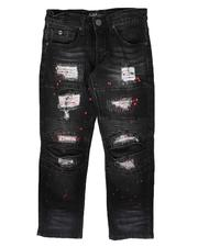 Bottoms - Moto & Stitch Detail Jeans (8-18)-2707182