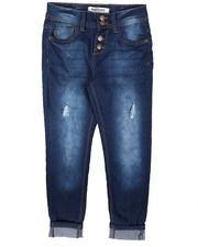 Sizes 7-20 - Big Kids - Snap Fly Pull on Denim Jeans (7-16)-2707972