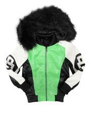 Sizes 4-7x - Kids - 8 Ball Hooded Jacket W/ Faux Fur (4-14)-2708160