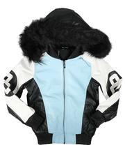 Sizes 4-7x - Kids - 8 Ball Hooded Jacket W/ Faux Fur (4-14)-2708167