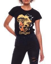 Tops - Black Queen SS Printed T-Shirt(Plus)-2702816