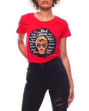 Tops - Black Queen SS Printed T-Shirt(Plus)-2702825