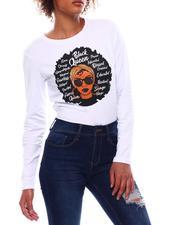 Tees - Long Sleeve Black Queen T-Shirt-2699535