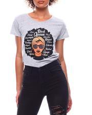 Tops - Black Queen SS Printed T-Shirt(Plus)-2702829