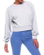 Tops - Classics Puff Sleeve Crew Neck Pullover-2705368