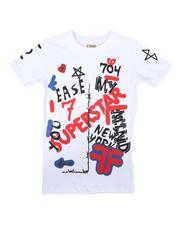 Arcade Styles - All Over Graffiti Print Tee (8-20)-2708289
