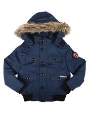 Outerwear - Faux Fur Lined Hooded Jacket W/ Pocket Front Detail (8-18)-2709020