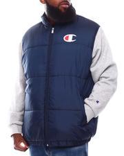 Light Jackets - Contrast Sleeves Puffer Jacket (B&T)-2707979