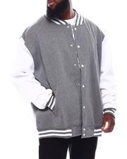 Light Jackets - Lightweight Fleece Baseball Jacket (B&T)-2708110