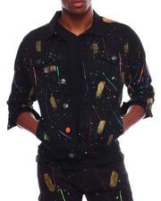 Outerwear - Paint Stroke Denim Jacket-2709661