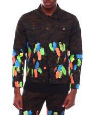 Outerwear - Paint Splatter Denim Jacket-2709718
