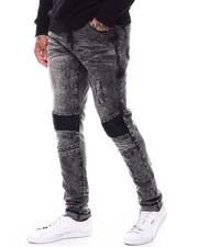 Jeans & Pants - Pu Panel Moto Jean w Zipper-2710777
