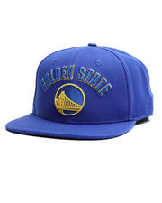 Hats - Golden State Warriors Stacked Logo Snapback Hat-2710411