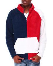 Men - Colorblock Half Zip Sherpa Sweater-2711619