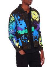 Men - Savage Paint Splatter Jacket-2709707