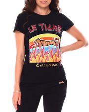 Tees - T-Shirt  Cotton Jersey Multi Technique Printing Glitter Rhinestone-2703274