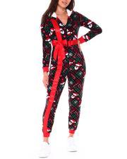 Women - Christmas Present Onesie W/Elastic Waist-2712060