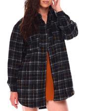 Women - Oversized Plaid Shacket-2705223