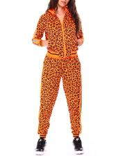 Women - Reflective Tape Leopard Track Suits-2711592