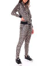 Women - Span Velvet Leopard Track Suits-2711652