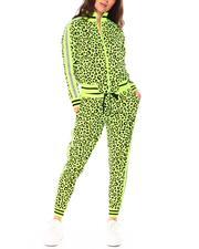 Women - Reflective Tape Leopard Track Suits-2711661